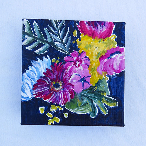 """Bouquet Abstract 6"""" X 6"""" SOLD"""