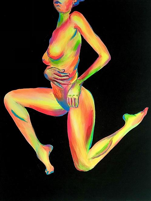 "Neon Nude 18"" X 24"""