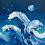"Thumbnail: Thick Waves 6""x6"""