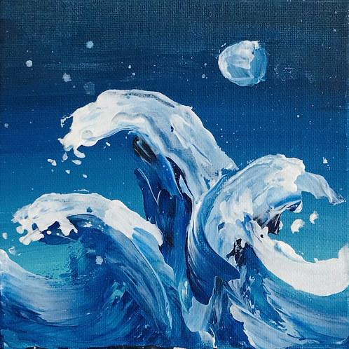 """Thick Waves 6""""x6"""""""