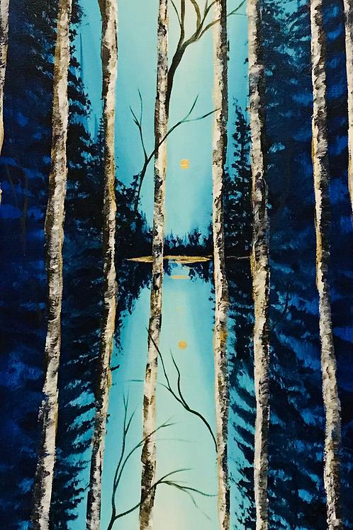 "Birch Trees 12""x30"""