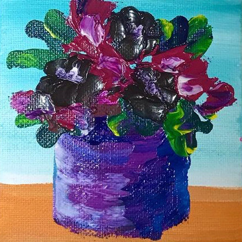 """Thick Flowers 4"""" X 4"""""""