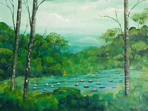 """Looking for Frogs 16""""x20"""""""