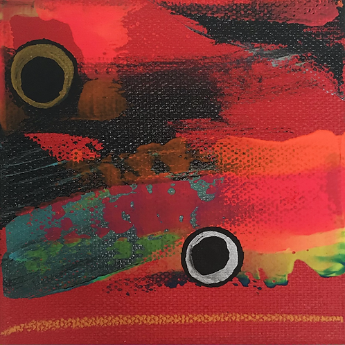 """Abstract #2 4"""" X 4"""""""