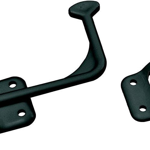DOOR HOLDER PLASTIC BLACK 90D