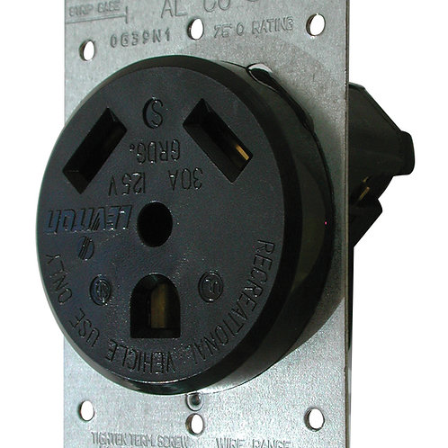 RECEPTACLE WITH PLATE ROUND 30A