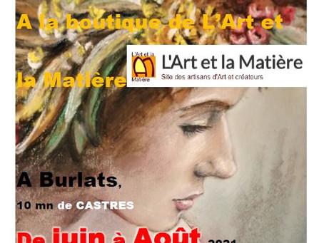 L'EXPOSITION TOUT L'ÉTÉ 2021 des artistes des Ateliers de Carol
