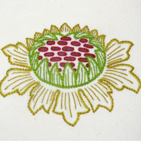 Morris in Bloom Embroidery Kit: Sunflower