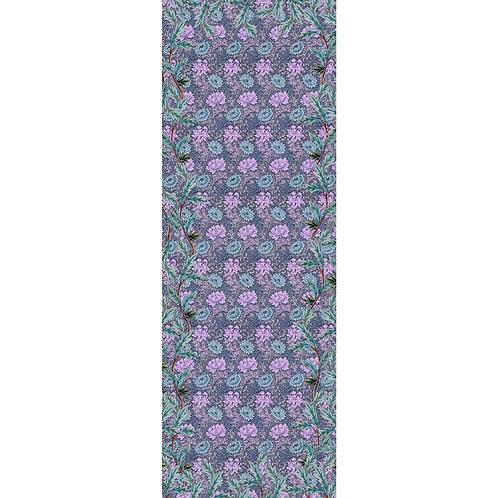 Chrysanthemum long scarf, lilac