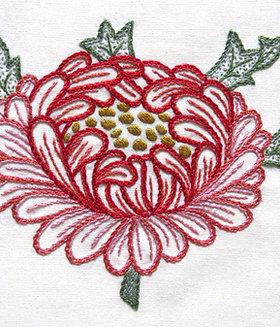 Morris in Bloom Embroidery Kit: Chrysanthemum