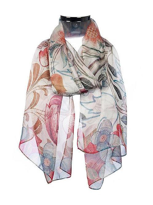 Morris Acanthus Chiffon scarf