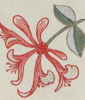 Morris in Bloom Embroidery Kit: Honeysuckle
