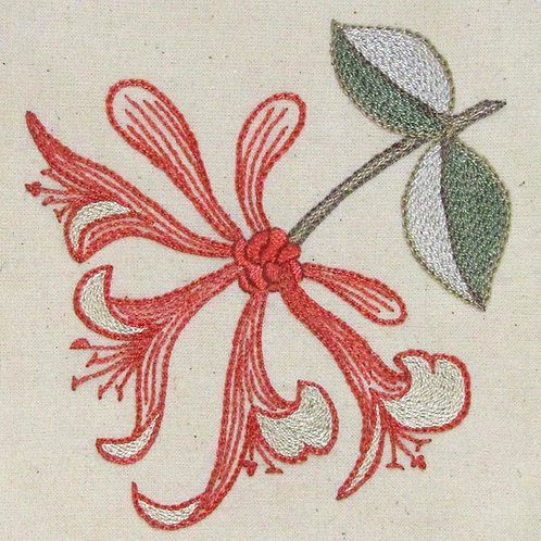 Morris in Bloom Embroidery Kit: Honeysuckle