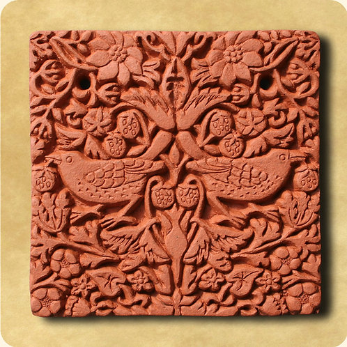Terracotta Tile: Strawberry Thief
