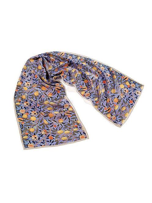 Morris Blue Fruit Silk Scarf