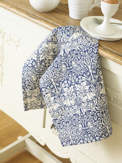Brother Rabbit Tea Towel - Blue