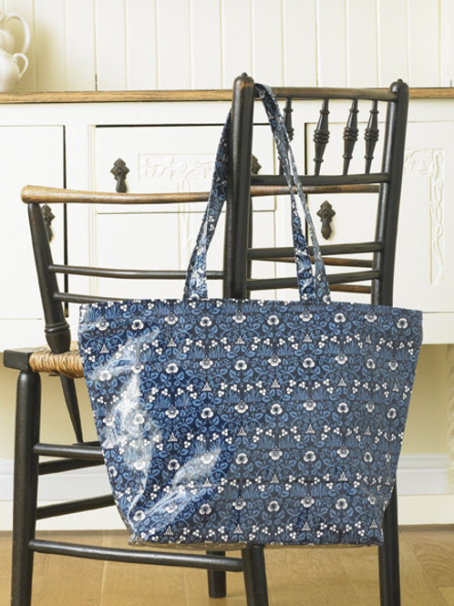 Eyebright long handled zipped PVC tote bag