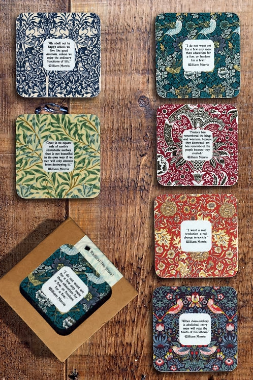 William Morris Radical Coaster Collection Set of 6