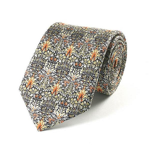 William Morris Snakeshead silk tie