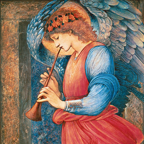 Christmas cards: Angel Playing a Flageolet