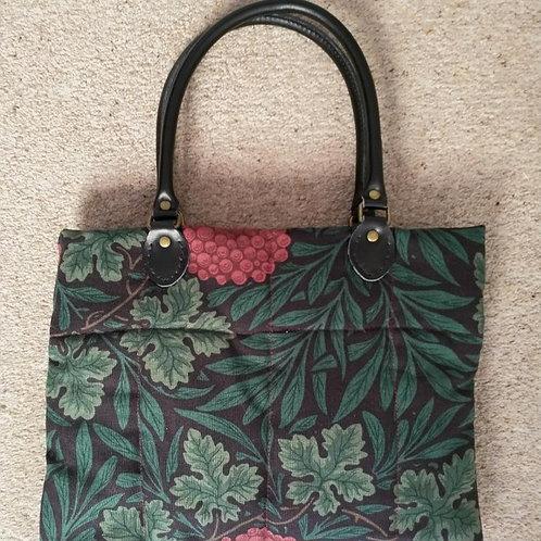 Handmade 'Vine' bag with leather handles