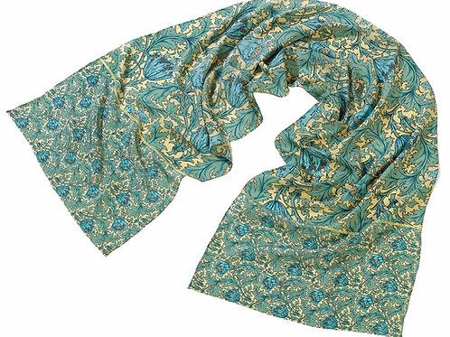 Morris Anemone Silk Scarf