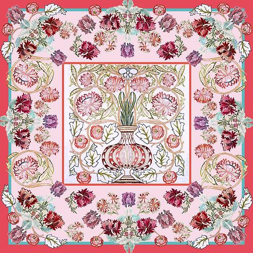 Vase silk scarf
