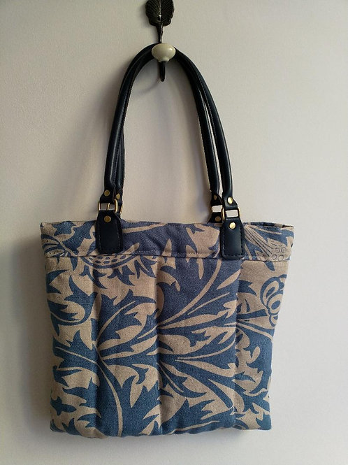 Handmade 'Thistle' bag with faux leather handles