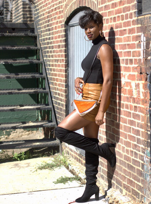 Mixed Prints Monday: Leather Mini Skirts & Thigh High Boots for Fall