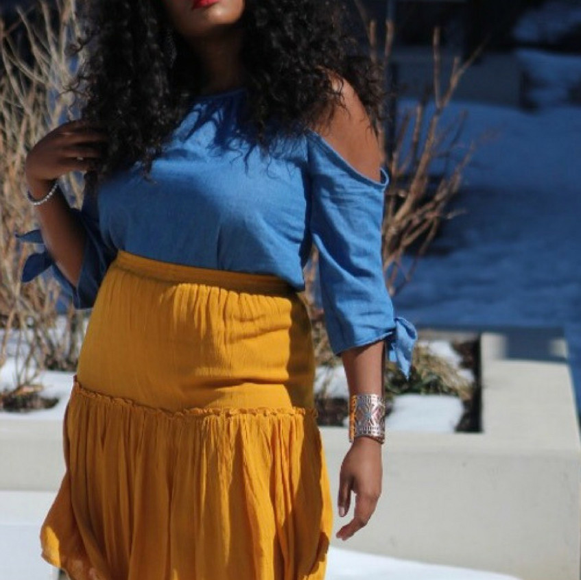 """This entire outfit is from @CharlotteRusse and was part of their """"Entire Store under $25"""" sale. The shades were $6, top was $20 and skirt was $15."""