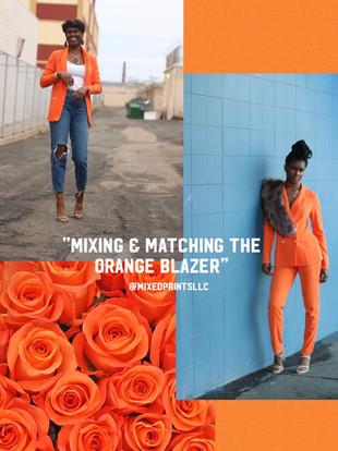 MixedPrints Monday: Mixing & Matching The Orange Blazer