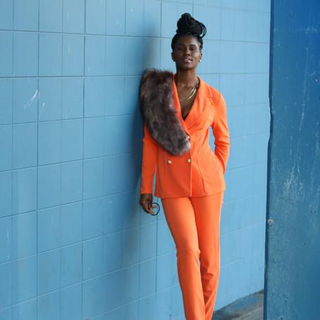 MixedPrints Monday The Orange Suit