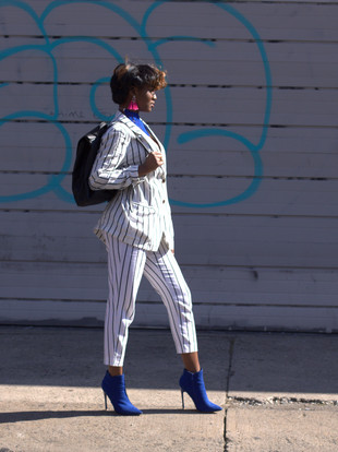 MixedPrints Monday: Styling The Stripe Suit