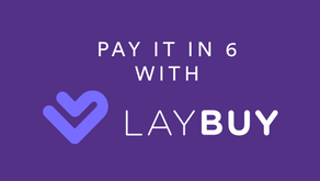 6 interest-free payments with Laybuy