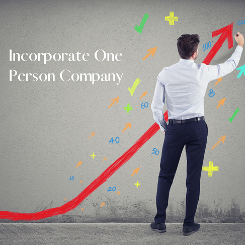 What is One Person Company and Process of its registration?