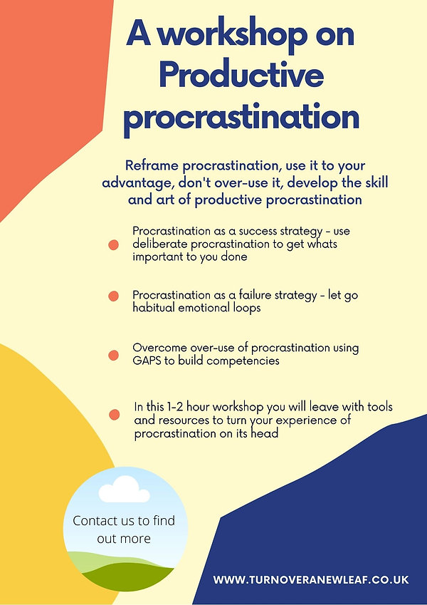 A workshop on Productive procrastination