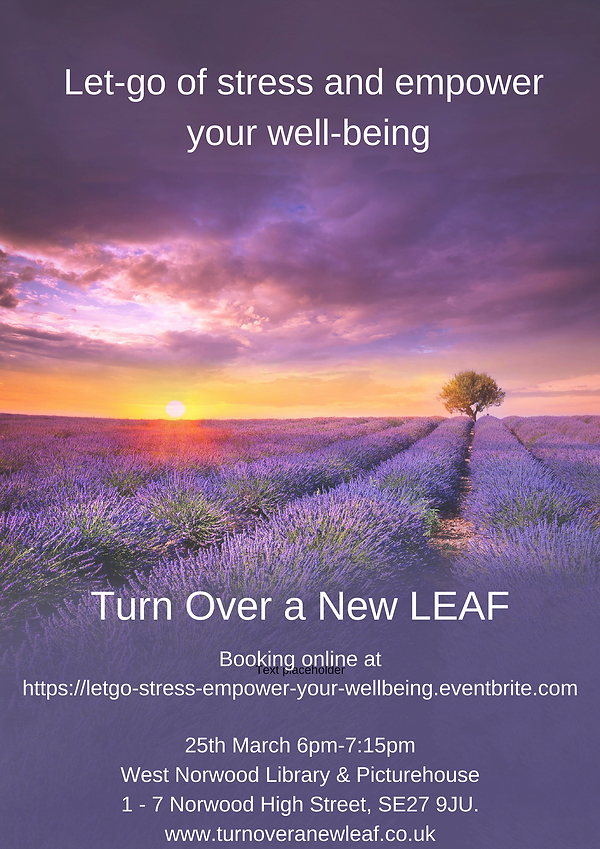 Let go of stress empower wellbeing 25.04