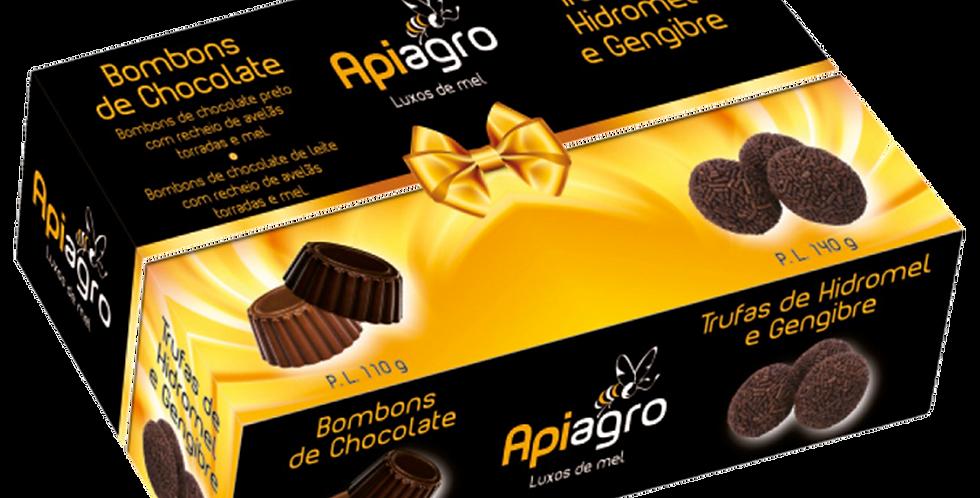 Caixa de Bombons de Chocolate e Trufas de Hidromel e Gengibre