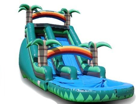 18 Ft High Rainforest Paradise Slide