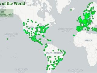 Spotify crea mapa con los gustos musicales de cada ciudad del mundo