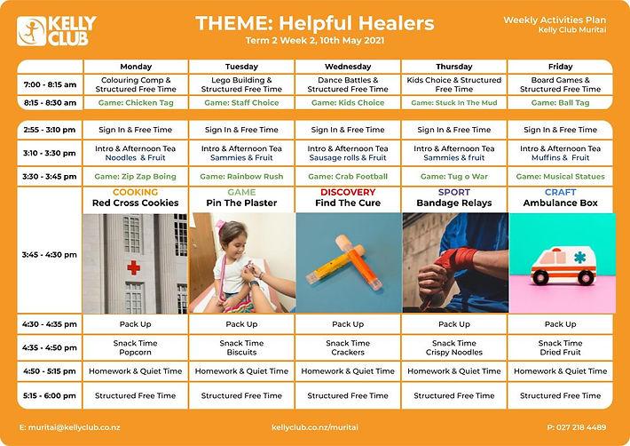 Kelly Club Week 2 Planner - Helpful Heal