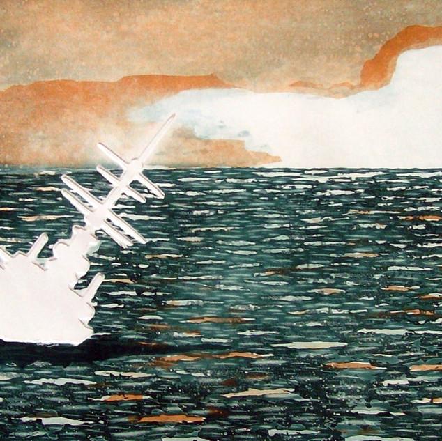 Marinha                                                        Água-tinta e relevo                                                       44 x 29 cm  2007