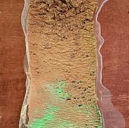 Lama Madeira, tule, polpa de papel  e pigmento 2014