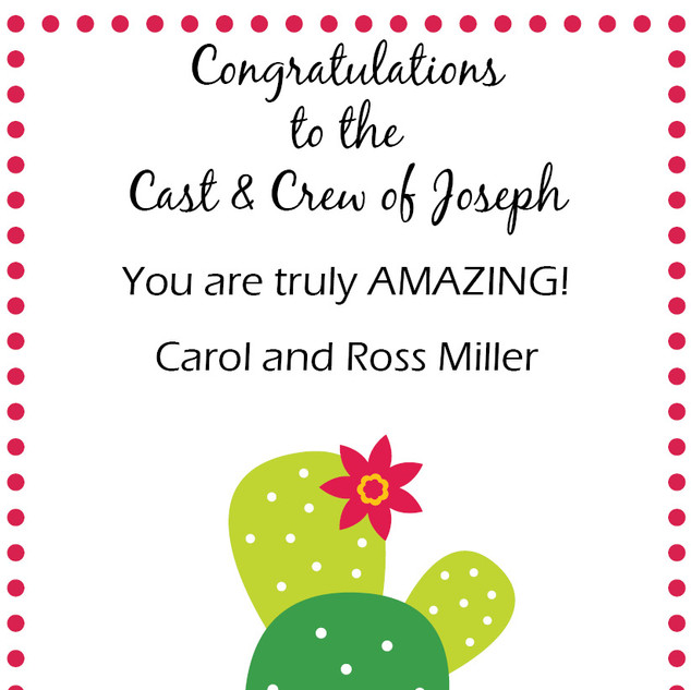 Congrats from the Miller's