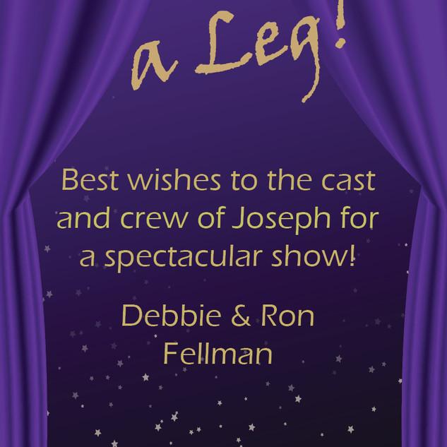 Congratulations from Debbie & Ron Fellman