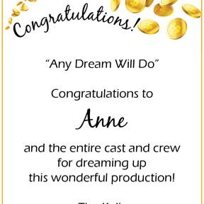 Congratulations Anne