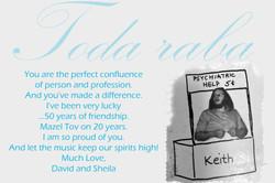 David and Sheila Greeting