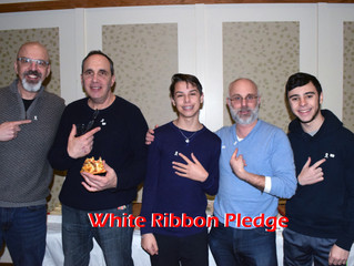 Taking the White Ribbon Pledge