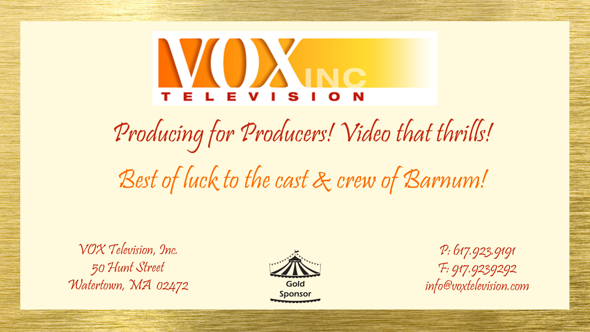 Click link for more info on VOX