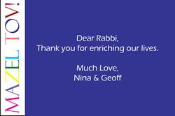 Rabbi Keith Stern 20th Anniversary